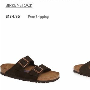 Birkenstock...Arizona Soft-bed Suede Sandal.